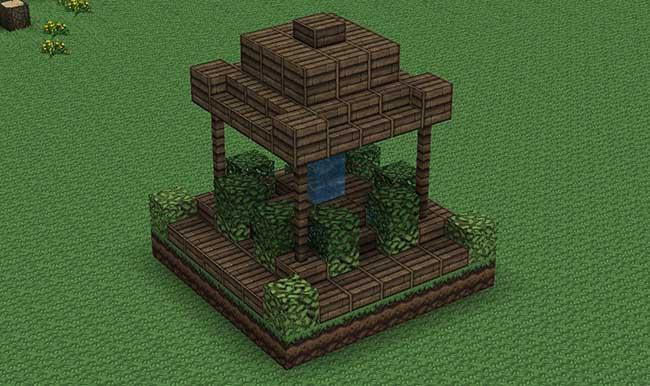 10 idées et exemples de conception de fontaines Minecraft 8