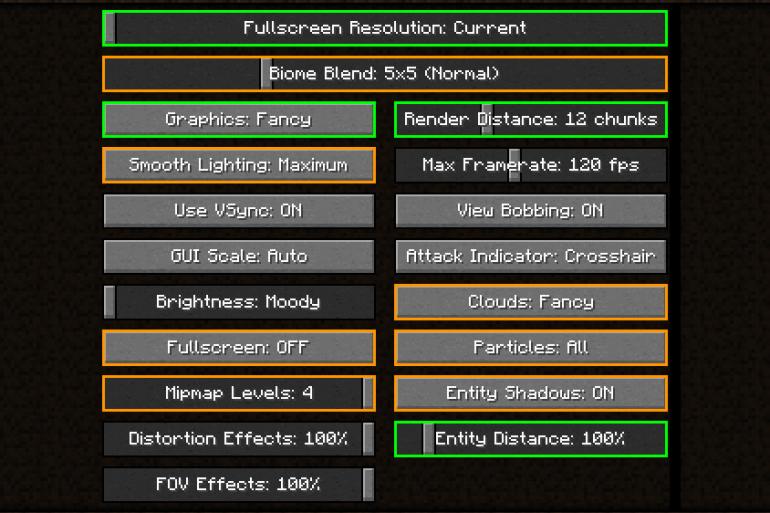 Comment résoudre les problèmes de faible FPS et de fréquence d'images dans Minecraft ? 5